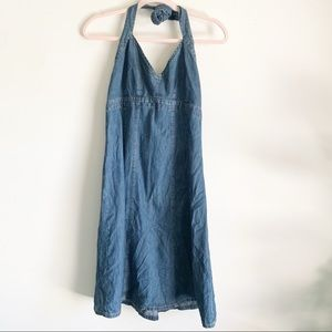 Old Navy Denim Halter Jean Jumper Dress Size 10